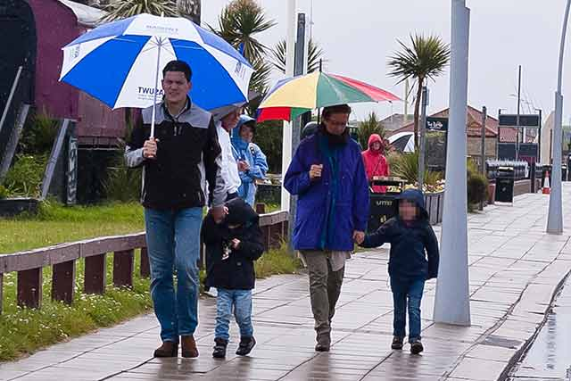 David Miliband and family in South Shields